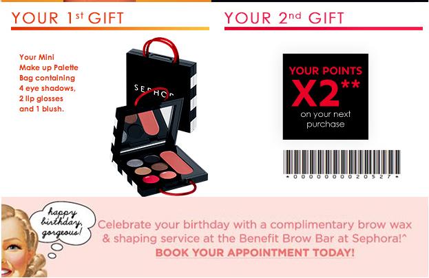 Sephora May Birthday Gift 2018